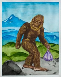 Bigfoot with garlic